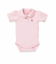 Shortsleeve baby body POLETTINA light pink