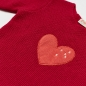 Preview: Kaschmir Strickpullover HUG ME HEART W. CROSSES pink/Herz von Wildfang by nyani