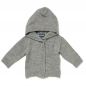 Preview: Baby Strickjacke LOVED ONE grau meliert