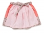 Preview: Kinderrock SKIRT NIA NUTS! lachs/rosa kariert/Nüsschenmuster
