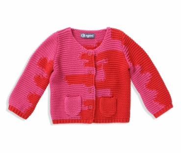 Kaschmir Strickjacke I AM A PAINTER pinkrot