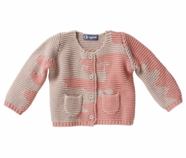 Kaschmir Strickjacke I AM A PAINTER beige/rosa