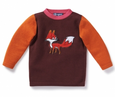 Kaschmir Strickpullover ANIMAL FARM pflaume