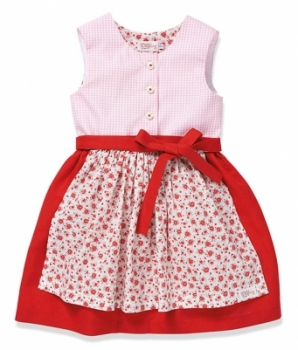 Kinderkleid MY DIRNDL red/flowers