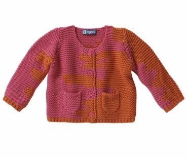 Kaschmir Strickjacke I AM A PAINTER pinkorange