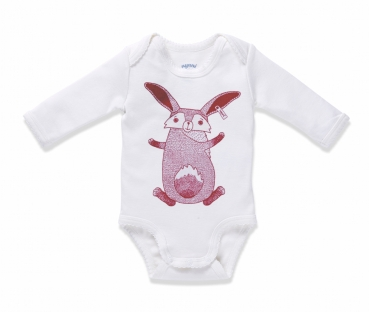Langarm-Body MRS. RABBIT offwhite