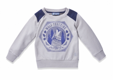Sweater WOLF TRACKING frost grey von nyani