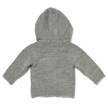 Baby Strickjacke LOVED ONE grau meliert
