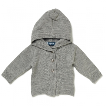Baby Strickjacke LOVED ONE grau meliert von nyani