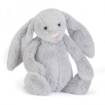 "Stofftier Hase ""Bashful Silver Bunny Large"" in silber von Jellycat"