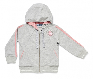 Sweat-Jacke NYANI SWEATJACKET GIRLS mauverosa/grau meliert