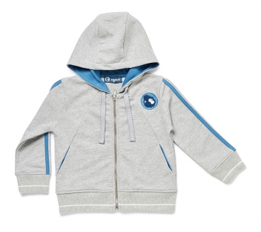 Sweat-Jacke NYANI SWEATJACKET BOYS himmelblau/grau meliert