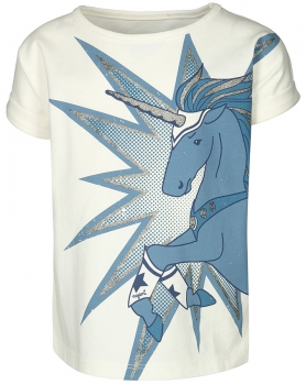 T-Shirt ULTIMATE UNICORN in off white mit blauem Aufdruck