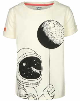 T-Shirt ROCKETMAN in off white