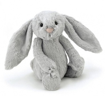 Stofftier Hase ''Bashful Silver Bunny Small'' in silber von Jellycat