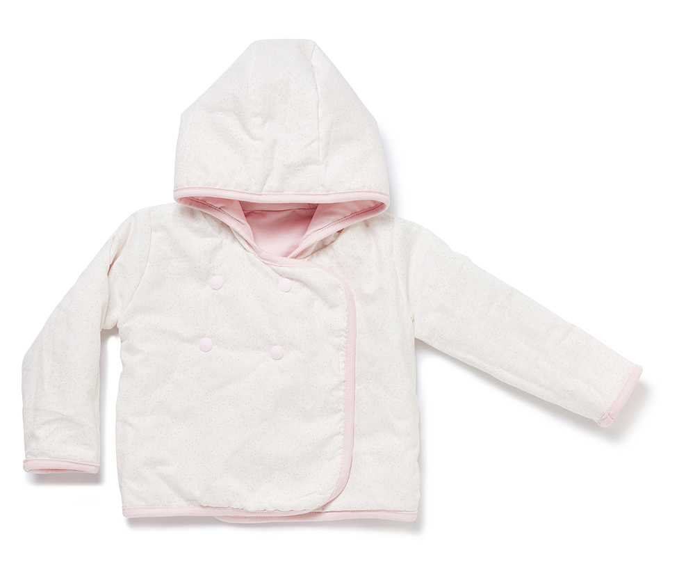 9956c73e1 Baby jacket NOS BABYJOY HOODED JACKET chalk pink - nyani