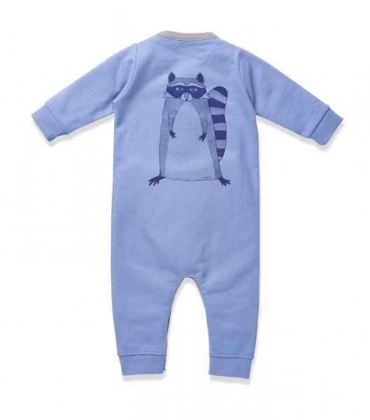 Baby Overall MR. RACOON faded denim