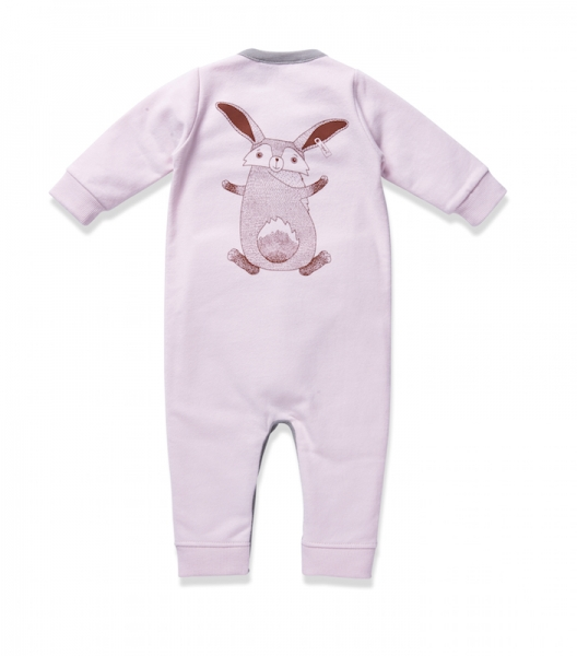 Baby overall MRS. RABBIT chalk pink