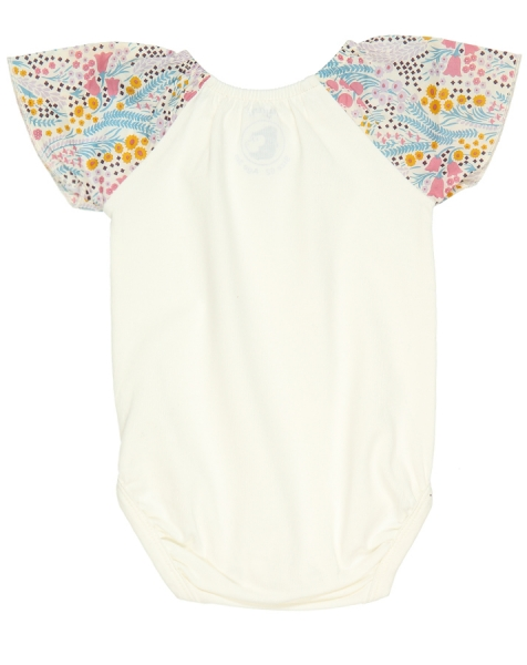 Kurzarm Babybody BELLFLOWER BABY in off white