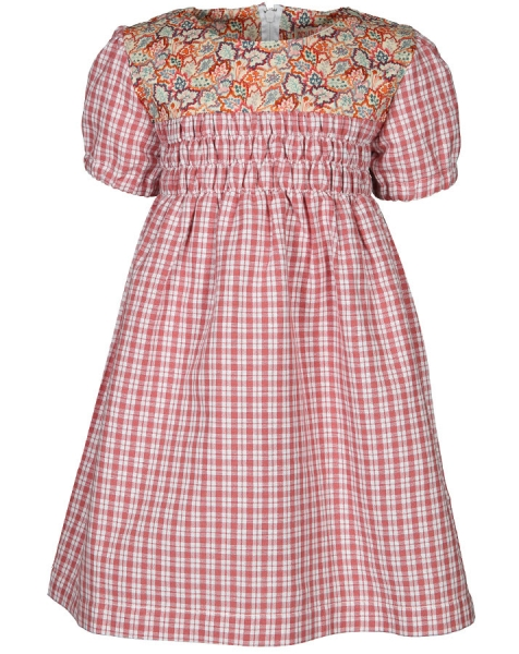 Kinderkleid ALICE MAPLE rosa kariert von Wildfang by nyani