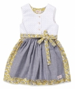Kinderkleid MY DIRNDL white/yellow